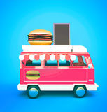 Furgoneta de la hamburguesa Imagen de archivo