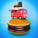 Furgoneta de la hamburguesa Fotos de archivo libres de regalías