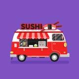 Furgoneta del sushi Fotografía de archivo libre de regalías