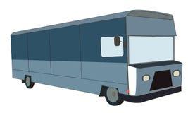 Furgoneta o camión americana usado para las entregas y los soportes de la comida Fotos de archivo libres de regalías