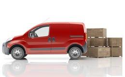 Furgoneta urgente para transportar mercancías Fotos de archivo