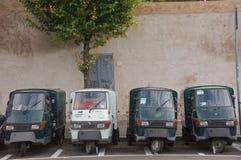 3 furgonetas Roma del policía motorizado Fotos de archivo