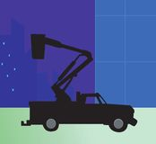 Furgonetka samochód dostawczy Zdjęcia Royalty Free