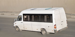 furgonetki pasażerskiego white Zdjęcia Royalty Free