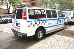 Furgoni di NYPD Fotografie Stock