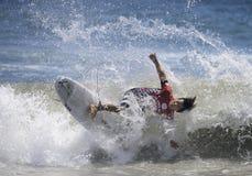 2015 furgoni Stati Uniti si aprono di concorrenza praticante il surfing Immagine Stock Libera da Diritti