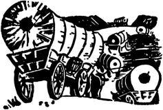 Furgonu pociąg Obrazy Royalty Free