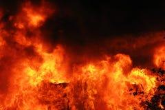 Furia de una llama Fotos de archivo