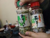 Furikake, powder for rice garnish made of seaweed Royalty Free Stock Photo
