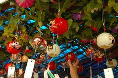 Furin szklani wiatrowi kuranty obraz royalty free