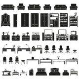 Furinture - ícones da mobília ajustados Foto de Stock