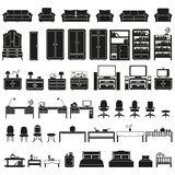 Furinture - furniture icons set Stock Photo