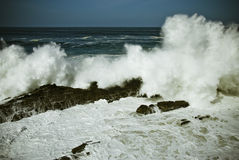 Furious. Strong storm on the coast of galicia Stock Photography