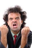 Furious. Portrait of a very furious adult man stock photos