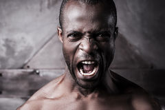 Furious and aggressive. Royalty Free Stock Photography