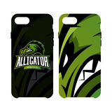 Furious alligator sport vector logo concept smart phone case isolated on white background. Stock Photography
