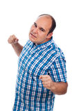 Furious angry aggressive man. Gesturing, isolated on white background Stock Image