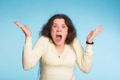 Furious angry woman with rage and frustration. Furious angry woman screaming with rage and frustration Stock Images