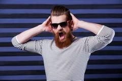 Furious bearded. Stock Photo