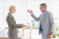Furious boss yelling at colleague Stock Photography
