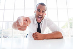 Furious boss. Stock Photography