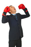 Furious business man shouting Royalty Free Stock Photo