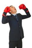Furious business man shouting royalty free stock photo