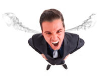 Furious businessman Stock Photography