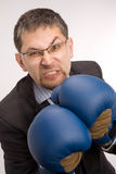 Furious businessman - boxer Royalty Free Stock Image