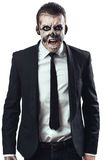 Furious businessman  makeup skeleton Stock Photography