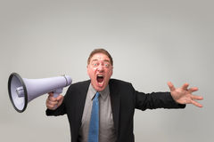 Furious businessman Royalty Free Stock Photos