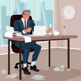 Furious businessman in office Stock Photography