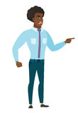 Furious businessman screaming vector illustration. Royalty Free Stock Photo