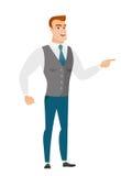 Furious businessman screaming vector illustration. Stock Image