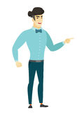 Furious businessman screaming vector illustration. Stock Photography