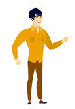 Furious businessman screaming vector illustration. Stock Photo