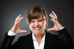 Furious businesswoman Royalty Free Stock Images