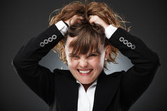 Furious businesswoman Stock Images