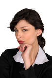 Furious businesswoman. Portrait of a furious businesswoman Royalty Free Stock Image