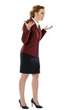 Furious businesswoman in full length Stock Image