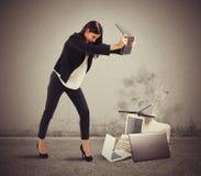 Furious businesswoman Stock Photo