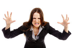 Furious businesswoman threatening Stock Photography
