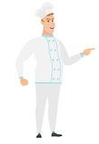 Furious chef cook screaming vector illustration. Royalty Free Stock Photography