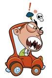 Furious driver Stock Image