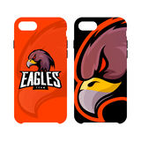 Furious eagle sport vector logo concept smart phone case isolated on white background Royalty Free Stock Photography