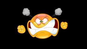 Furious emoticon animation stock video footage