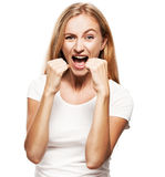 Furious female Stock Images