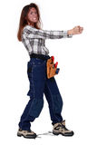 Furious female worker Royalty Free Stock Image