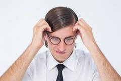 Furious geeky businessman Stock Photography