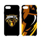 Furious hornet head athletic club vector logo concept isolated on smart phone case. Stock Photos